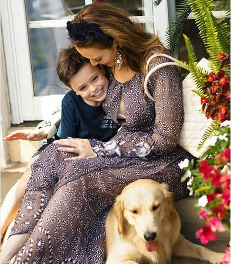 Yoanna House and son