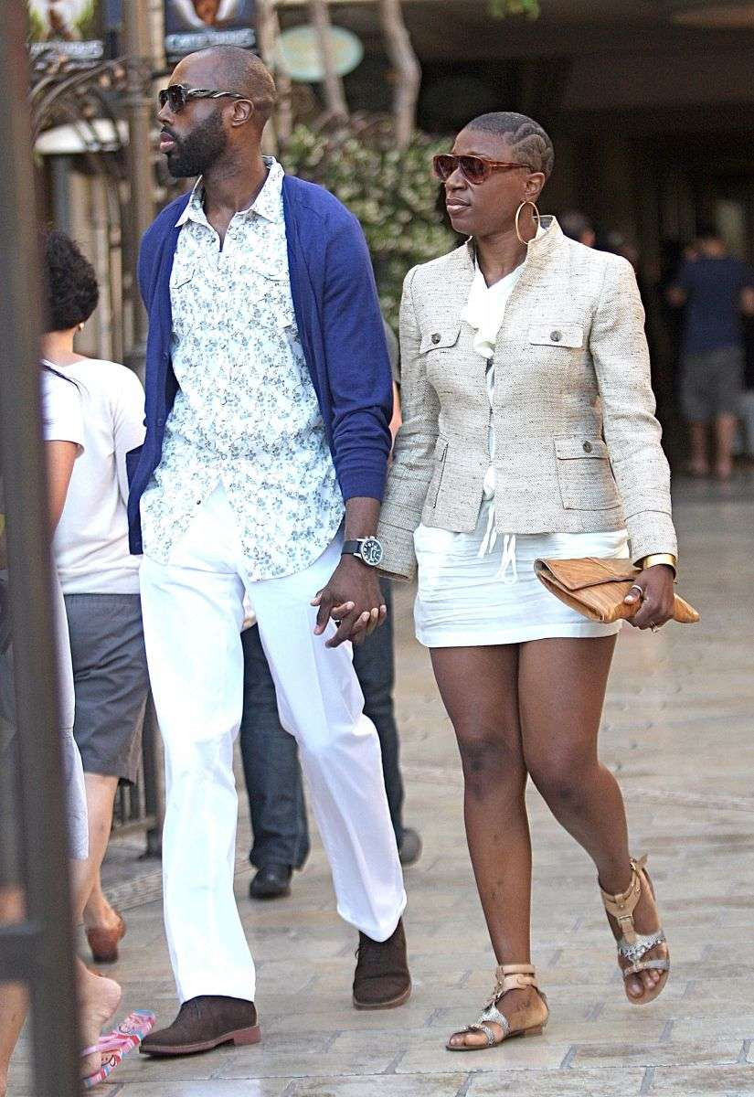 Aisha Hinds with boyfriend