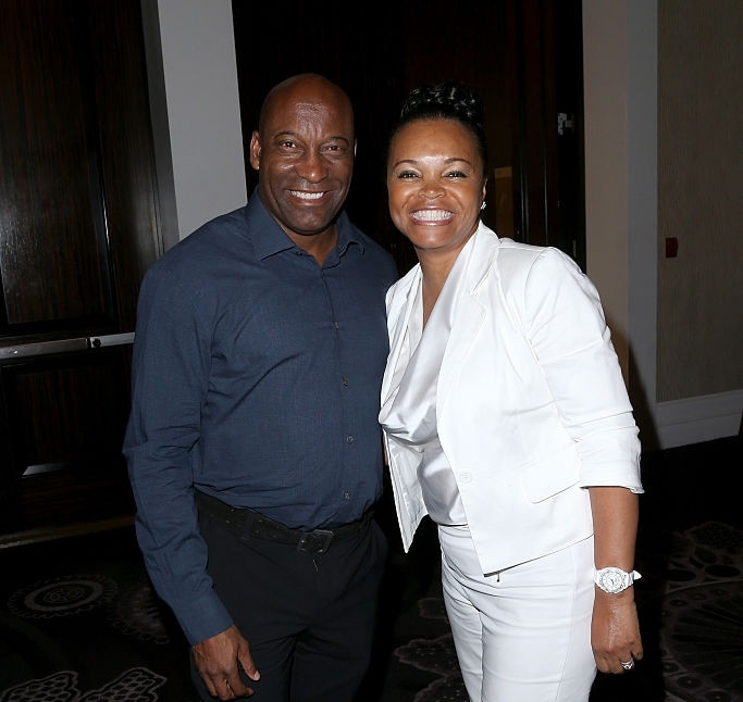 Akosua Busia and John Singleton