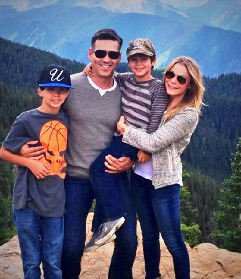 Eddie Cibrian and LeAnn with kids