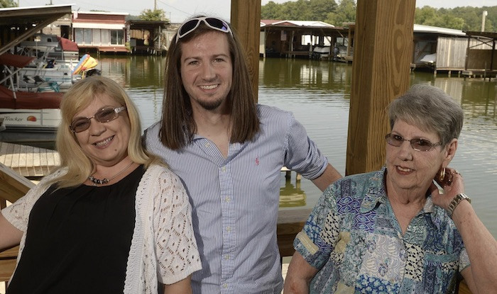 Darren Knight with mother and grandmother.