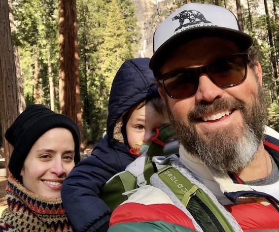 David Denman with wife and Son.