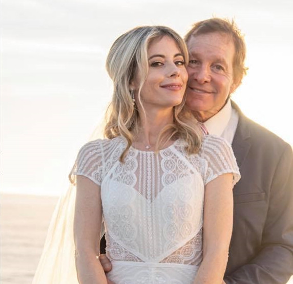 WCBS Emily Smith and husband Steve Guttenberg wedding day