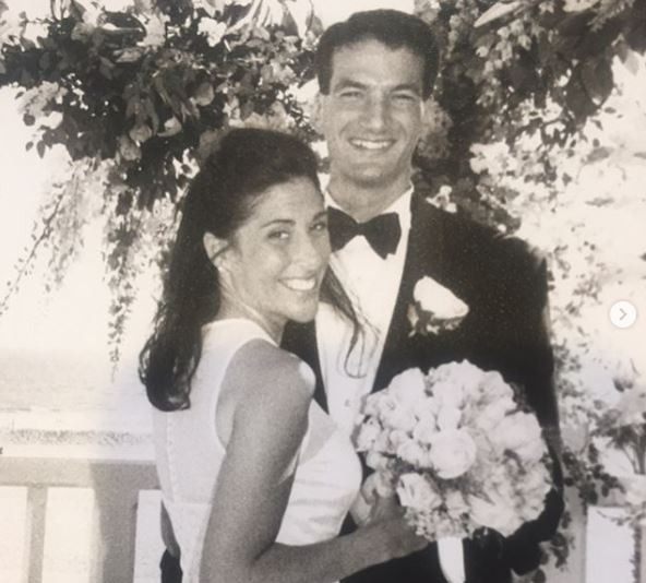 Eric Spillman and wife Lynne on wedding day