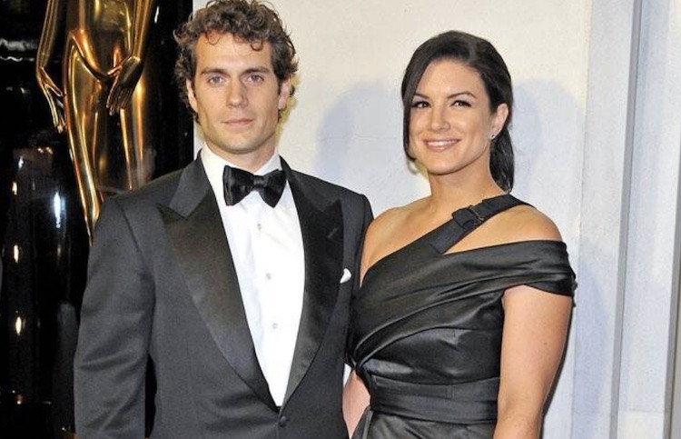 Gina Carano and Henry Cavill at Tom Ford Cocktail Party in 2013
