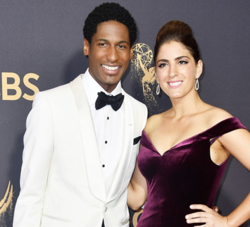 Jon Batiste with his girlfriend, Suleika Jaouad, at Emmy Awards 2017