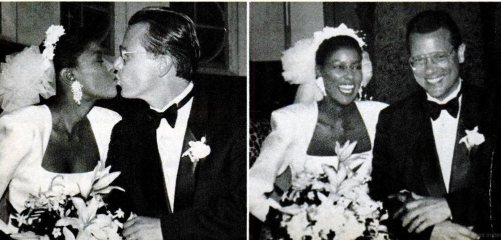 Lori Stokes and Ex-husband Brian Thompson on wedding day