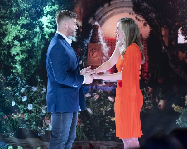 Luke Parker and Hannah Brown on Bachelorette Season 15