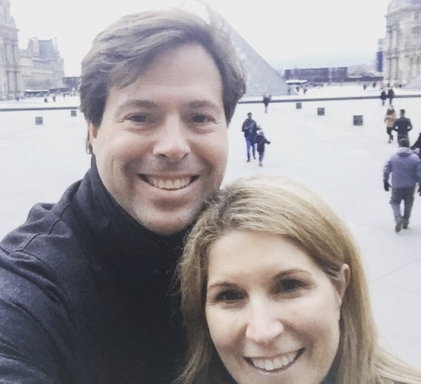 Nicolle Wallace and ex-husband Mark Wallace in Paris.