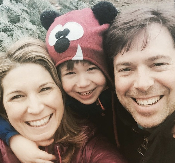 Nicolle Wallace. ex-husband and their son in 2016