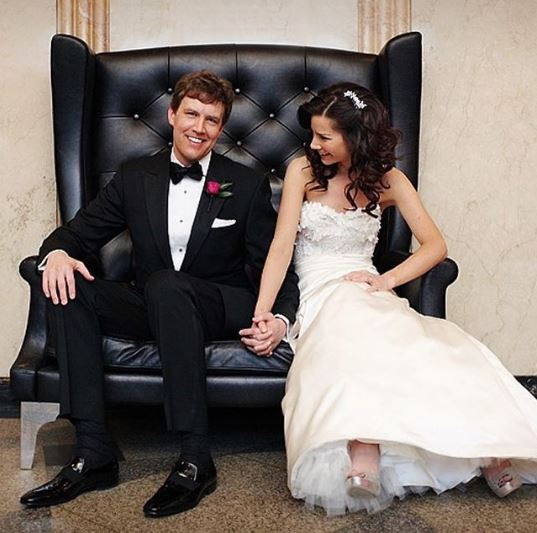 Rebecca Jarvis and husband on wedding day