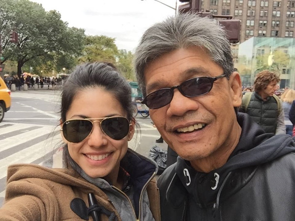 Tracee Carrasco and father Gilbert Tolentino